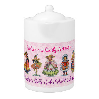 Dolls of the World Adorable Doll Collection Pink Teapot