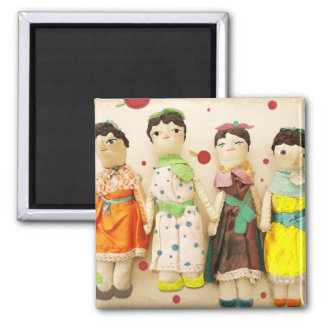Dolls polka dots cute precioso hermoso magnet
