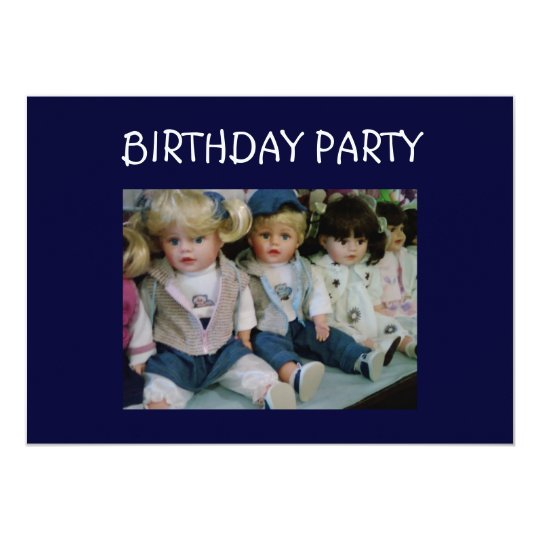 DOLL'S STYLE BIRTHDAY PARTY CARD