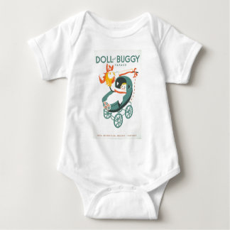 Dolly & Buggy Parade WPA Poster Baby Bodysuit