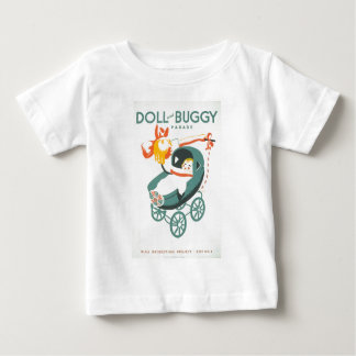 Dolly & Buggy Parade WPA Poster Baby T-Shirt