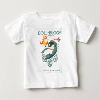 Dolly & Buggy Parade WPA Poster Baby T-Shirt