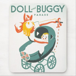 Dolly & Buggy Parade WPA Poster Mouse Pad