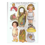 Dolly Dingle's Trip Around the World Paper Dolls Postcard