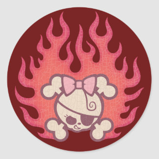 Dolly Flames Classic Round Sticker