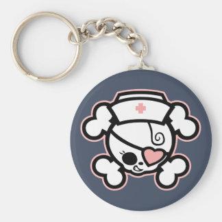 Dolly Heart, RN Basic Round Button Keychain