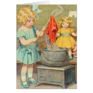 Dolly Laundry Greeting Cards