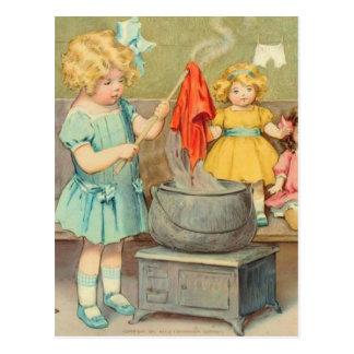 Dolly Laundry Postcard