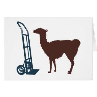 Dolly llama card