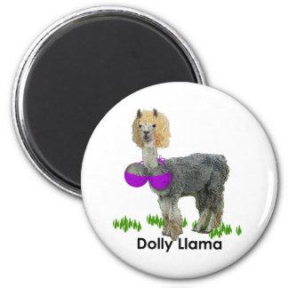 Dolly Llama Fridge Magnet