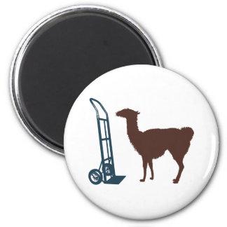 Dolly llama 2 inch round magnet