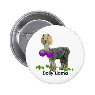 Dolly Llama Pinback Button