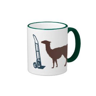 Dolly llama ringer coffee mug