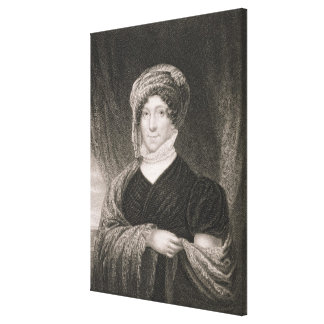 Dolly Madison, engraved by John Francis Eugene Pru Canvas Print