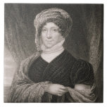 Dolly Madison, engraved by John Francis Eugene Pru Ceramic Tile
