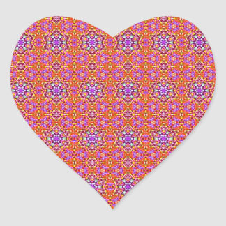Dolly Mixtures Candy Fractal Art Pattern Heart Sticker