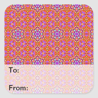Dolly Mixtures Candy Fractal Art Pattern Square Sticker