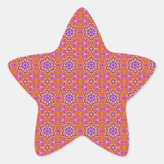 Dolly Mixtures Candy Fractal Art Pattern Star Sticker