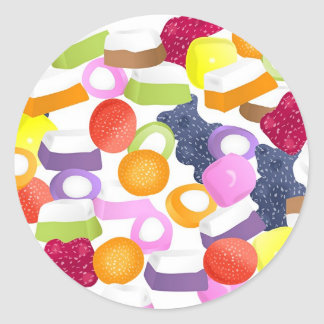 Dolly Mixtures Classic Round Sticker