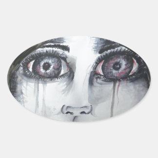 Dolly Oval Sticker
