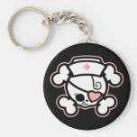 Dolly RN Heart Basic Round Button Keychain