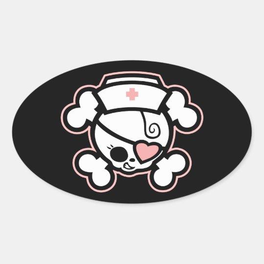 Dolly RN Heart Oval Sticker