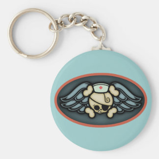 Dolly RN Wings III Basic Round Button Keychain
