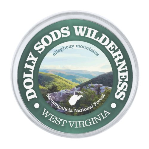 Dolly Sods Wilderness Area Silver Finish Lapel Pin