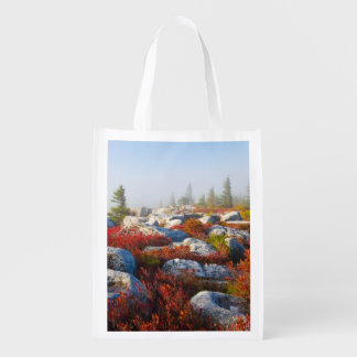 Dolly Sods Wilderness Fall Scenic With Fog Grocery Bag