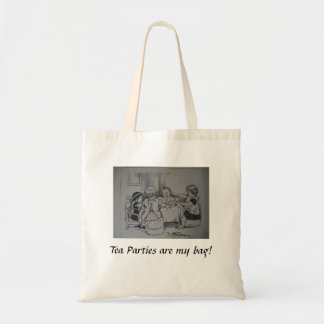 Dolly Tea Party tote bag Budget Tote Bag