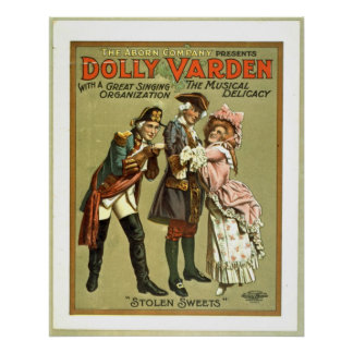 Dolly Varden the Musical Delicacy 1906 Poster