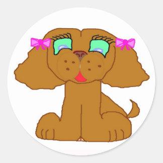 Dollyelf Pupkin Line Classic Round Sticker
