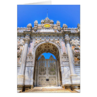 Dolmabahce Palace Istanbul Turkey Card