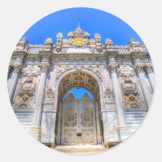 Dolmabahce Palace Istanbul Turkey Classic Round Sticker