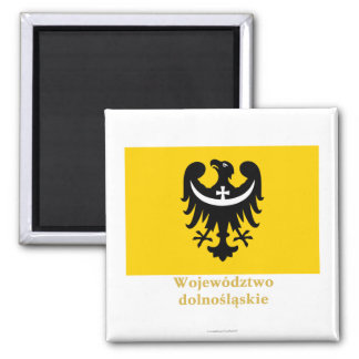 Dolnośląskie - una bandera más baja de Silesia con Imán Para Frigorifico