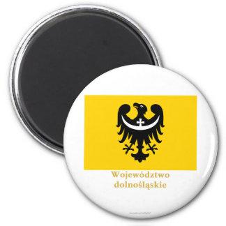 Dolnośląskie - una bandera más baja de Silesia con Imán