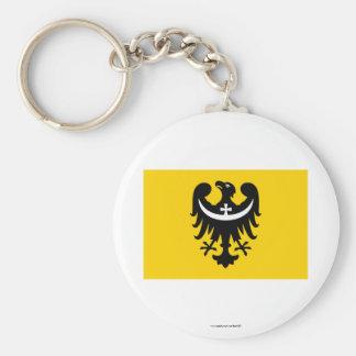 Dolnośląskie - una bandera más baja de Silesia Llaveros Personalizados