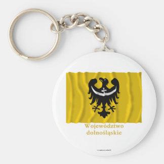 Dolnośląskie - una bandera que agita más baja de S Llavero