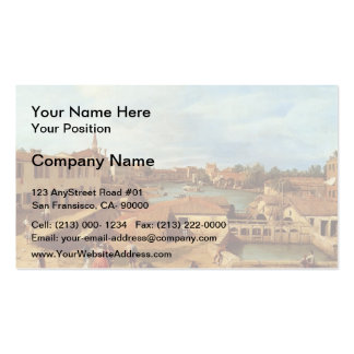 Dolo on the Brenta by Canaletto Business Cards
