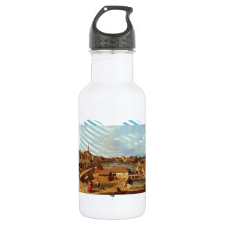 Dolo on the Brenta by Canaletto 18oz Water Bottle