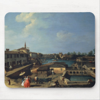 Dolo on the Brenta (oil on canvas) Mouse Pad