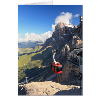 Dolomites - aerial view from Rosetta mount Card