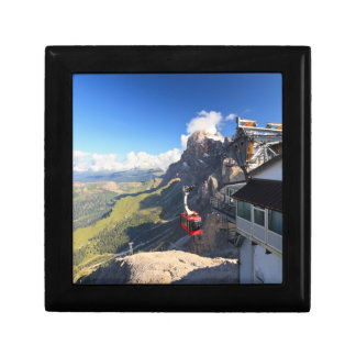 Dolomites - aerial view from Rosetta mount Keepsake Boxes