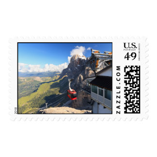 Dolomites - aerial view from Rosetta mount Stamp