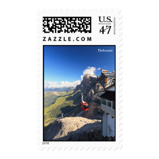 Dolomites - aerial view from Rosetta mount Postage Stamp