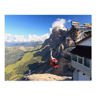 Dolomites - aerial view from Rosetta mount Postcard