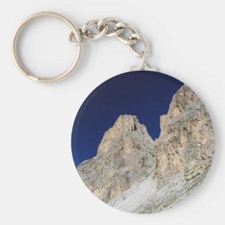 Dolomites at morning basic round button keychain