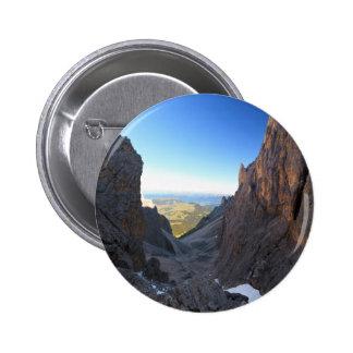 Dolomites at morning pinback buttons