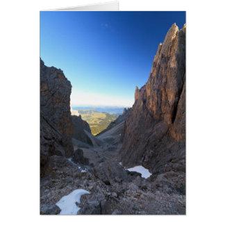 Dolomites at morning card
