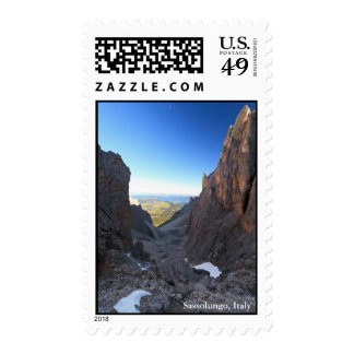 Dolomites at morning postage stamps